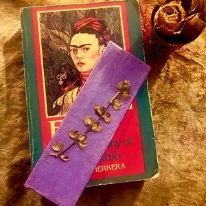 Handmade purple bookmark